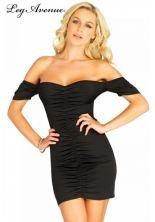 Leg Avenue Damen Mini-Kleid Laverne schwarz L (Avenue-kleider Leg)
