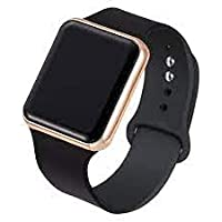 Metallic Gold Square LED Multi-Functional Automatic Sports Watch for Men's Kids Watch for Boys, Girls, Women- Watch for…