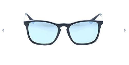 RAYBAN Herren Sonnenbrille Rb4187, Black/Greenmirrorsilver, One Size (54)