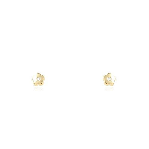 Baby blume 3 mm Ohrstecker - Gelbgold 18 Karat (750)