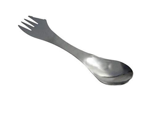 Ein Combo-küche (Messer und Gabel, Gabel, Löffel Spork 3 in 1 Geschirr Edelstahl Besteck Utensil Combo Küche Outdoor Picknick Scoop/Messer/Gabel-Set, 1)