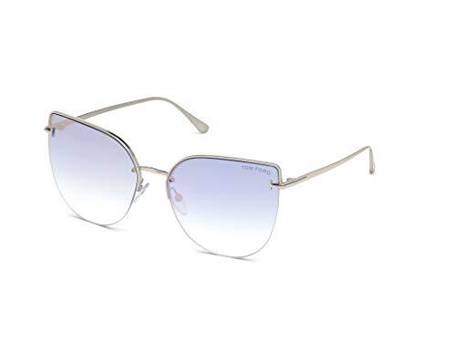 Tom Ford Sonnenbrillen INGRID-02 FT 0652 Silver/Blue Shaded Damenbrillen