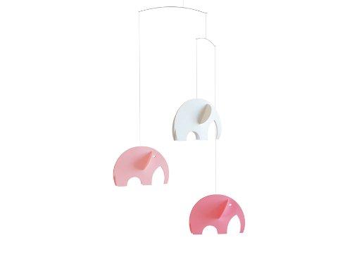Flensted Mobiles Olephants, pink,weiß 45x35 cm
