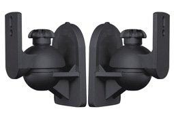 2 Lautsprecher Wandhalter schwarz Modell HALTERUNGSPROFI
