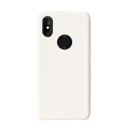 Croachi Funda XiaoMi Mi A2 Lite/Redmi 6 Pro, Xiaomi Mi 6X/ Xiaomi Mi A2 Case Gel Carcasa Silicona TPU Transparente Cover Antigolpes Protector Ultra-Fina-Slim 360 (Blanco, Mi A2/ Mi 6X)