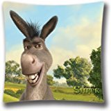 Zipper Design Donkey Shrek The Final Chapter Throw Pillowcase, 18x18 inches Pillow Sham (Twin sides) AnasaC34722 -