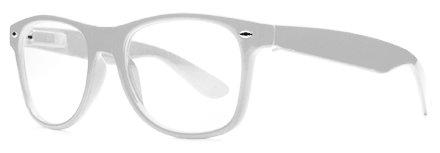 Nerd Clear NERD Hornbrille Clear Fensterglas Brille Weiß
