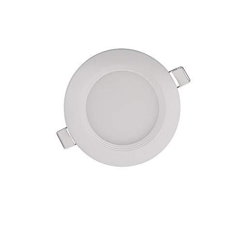 LED Einbauleuchte Pan | inkl. 1 x 6W Leuchtmittel | weiß | Ø12cm | 480lm | werkzeugfreie Montage superflach | Einbaustrahler Einbaulampe Deckenstrahler Deckenspot Einbauspot Deckenleuchte