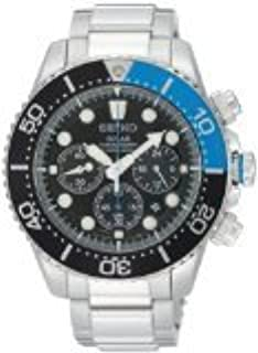 Gents/Mens Seiko Sports Watch Stainless Steel & Black Dial, Solar Powered, Chronograph 200m Water Resistant with Date SSC017P1 (B006Y9BUZA) | Amazon price tracker / tracking, Amazon price history charts, Amazon price watches, Amazon price drop alerts