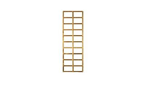 Spalier / Rankhilfe aus Holz im Maß 60 x 180 cm ( Breite x Höhe ) als Deko-Rankgitter im Garten