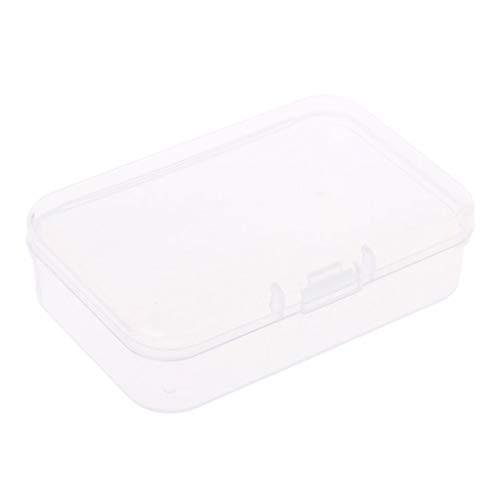 Runrain Kleine transparente Kunststoff-Aufbewahrungsboxen klar quadratische Mehrzweck-Vitrine (C943) (Klare Kunststoff-vitrine)