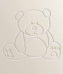 Cuna para bebé, modelo osito + Colchón Viscoelástica + Protector de Colchón