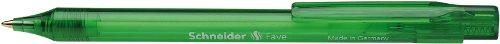 Schneider Fave Kugelschreiber (Druckmechanik, M) 20er Packung grün transparent