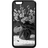 iPhone 6S Plus Coque, iPhone 6Plus Coque (Noir et Blanc)-Printemps Bouquet