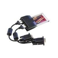 EXSYS PCMCIA with 2S Serial RS-232Ports Karte und Schnittstellen-Adapter-Karten und Adapter von Schnittstellen (Karte PC 16Bit, Oxford oxcf950, TxD, RXD, RTS, CTS, DTR, DSR, DCD, GND, schwarz, CE, FC, RoHS, WHQL, 0-70°C)