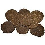 """AsiaCraft 12 PCs Pure Cow Dung Cakes (Gobar Upla) for Hawan and Indian Rituals, Dia 8"""""""
