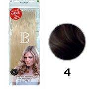 Paquet de 50 Extensions Kératine Cheveux Naturels balmain N°4 40 CM