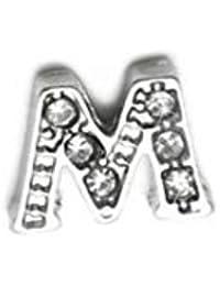 AKKi jewelry Buchstabe Element für Medaillon Kette,klein Petite Charms Elemente Pandora Style kompatibel Locket Memories Schmuck Set