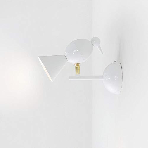 Nordic Persönlichkeit kreative einfache Wandleuchte Gang Korridor Lampe Schlafzimmer Nachttischlampe Schmiedeeisen einzigen Kopf Wandleuchte Weiß + Gold · G5.3 Strahler · Wandleuchte - Schwarz Einzigen Licht-wandleuchte