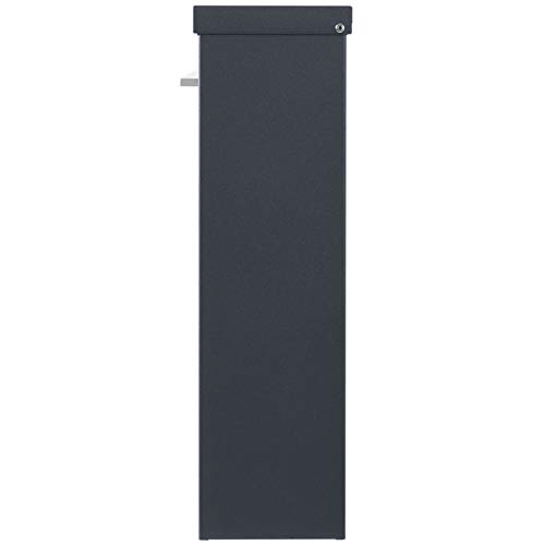 MOCAVI Box 99 Moderner Design-Briefkasten anthrazit-grau (ral 7016) mit Schloss, deutsche Markenqualität - 7