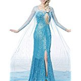 Top One Damen Princess Snow Queen Fancy Style Dress Cosplay Costume (Holloween M Kostüme M)