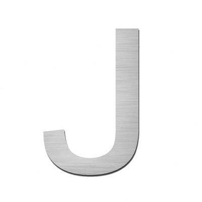 Autocollant numéro «j» en acier inoxydable v4A