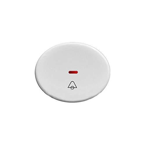 Niessen tacto - Tecla pulsador con visor simbolo timbre tacto blanco