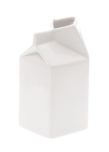 SELETTI – Pichet à Lait, Porcelaine, Blanc, 7 x 7 x 14,5 cm