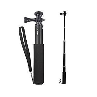 APEMAN Action Cam Einbeinstativ Ausziehbarer Selfie Stick Wasserdichter Handgriff Actionkamera A66/A60/A70/A80 und Smartphones