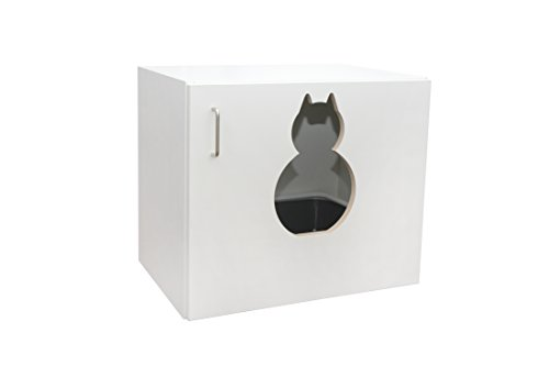 "Katzenschrank ""Maunz – das Original"" Katzenklo Katzentoilette incl. Kunststofftoilette und Streuschaufel B / H / T 60 x 53,5 x 41 cm - 3"