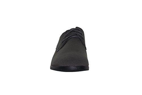 Dazawa - Chaussures De Ville Homme, Effet Cuir Mate, À Lacet, Sans Talon Gris