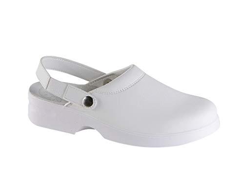 Safe Way Damenberufsclog 955 weiß rutschhemmend ohne Schutzkappe (38)