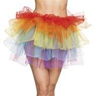 80er Jahre Kleidung Neonfarben Netzrock Einhorn Tüll Tüllrock -
