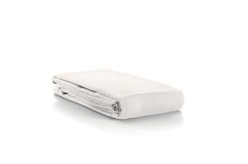 Aminata-Home – Tischdecke Weiß 70% Baumwolle 30% Polyester Teflon á 135x200 cm *Made in Europe* abwaschbar Schmutz- & Wasserabweisend Tischläufer Weiss Ivory Elfenbein Tischtuch Tischwäsche Tischdeko