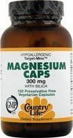 Country Life Vitamins Magnesium Caps with Silica - 300 mg - 120 Vegetarian Capsules by Country Life