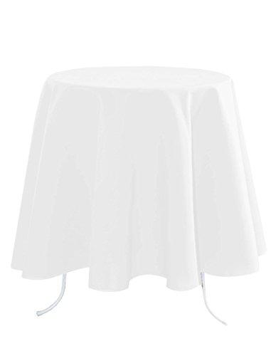 Lovely Casa N104689019 Nelson Tischdecke aus Baumwolle, 148x240cm, Weiß