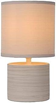 Lucide GREASBY – bordslampa – Ø 14 cm – 1 x E14 – beige