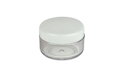 topwel-25pcs-10-gram-new-empty-round-pot-plastic-screw-cap-lid-with-clear-base-empty-plastic-contain