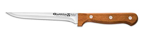 Cuchillo Jamonero-Mini o Filetero de 13cm Mango Madera Natural Quttin-