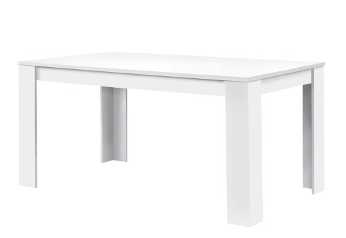 agionda® Esstisch Toledo in weiss 140 x 90 cm mit kratzfester Melaminharz Beschichtung -