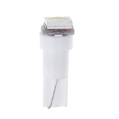 Hemore Accessoires de Voiture T5 Lumières LED d'Instrument de Tableau de Bord de Voiture 5050SMD 1LED 10PCS Blanc