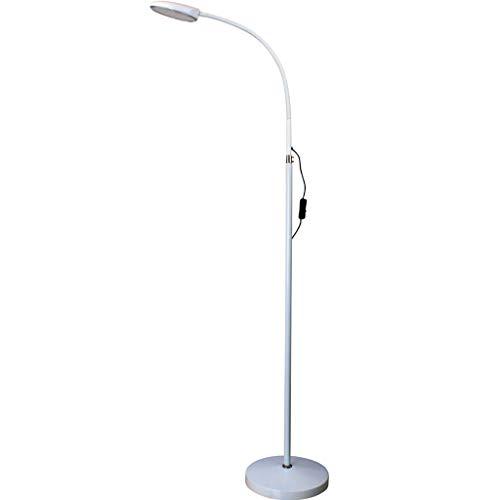 FGLDD Lampadaire LED protection des yeux lampe d'apprentissage chambre salon étude lampe debout bureau à domicile lampe taille: 25 * 92 + 56cm (Couleur : Blanc)
