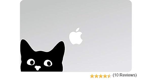 Adesivi per Laptop Moto Decal Laptop PC Decalcomanie Gatto Gattino Gatto 08 Gatti MOBILI Sticker MacBook Decalcomania Auto Gattini Micio Mac Laptop Sticker CASCHI Adesivo