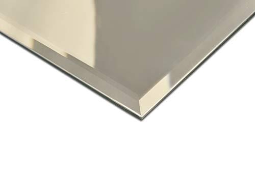 Spiegel mit Facettenschliff, Facettenspiegel, Rahmenloser, Spiegelfliese, Wandspiegel, Badspiegel, Badezimmer, Größe: Breite 40 cm x Höhe 30 cm (Rahmenlose Badezimmer Spiegel)