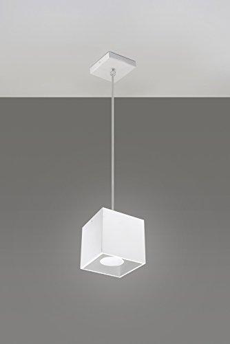 Bauhaus-Lámpara de techo (Diseño hogar, en blanco, Rectangular pantalla) lámpara de escritorio lámpara de interior Oficina Proyección techo colgante (colgante