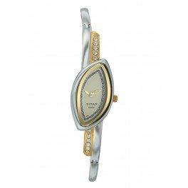 Titan Raga Analog Gold and Silver Dial Women's Watch - NB2396BM02T image