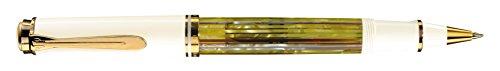 Pelikan 935593 Tintenroller Souverän R400 Schildpatt, weiß
