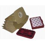 Service-Box geeignet für LUX1 D820 Royal Classic, Set = 10 Staubsaugerbeutel + 1 Micro-Hygienefilter + 1 Geruchsfilter