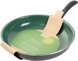 Gibson 62411.01 Home Hummington Eco-Friendly 12-Inch Ceramic Non Stick Open Fry Pan, Multi-Size, Green by Gibson