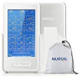 NURSAL Touch Screen TENS EMS Combination Unit with Back Clip for Pain Relief